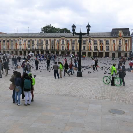 Centro histórico de Bogotá. A Plaza Bolívar é o coração da cidade Foto: Natalia castro