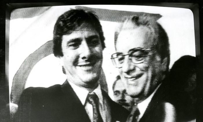 Fernando Collor de Mello e Itamar Franco na campanha de 1989 Foto: Reprodução TV