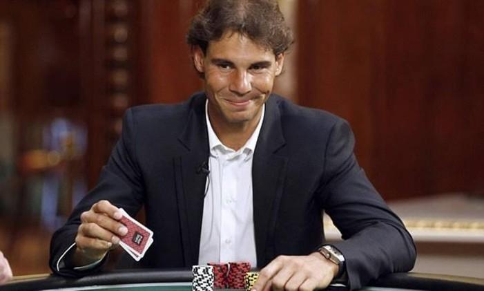Rafael Nadal já participou de programas de pôquer na TV na Espanha Foto: Divulgação