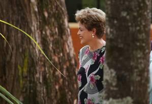 A presidente Dilma Rousseff na inauguração de laboratório de biotecnologia agrícola em Piracicaba-SP Foto: Fernando Donasci / Agência O Globo