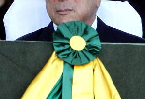 O vice-presidente da República, Michel Temer, durante cerimônia comemorativa do Dia do Soldado Foto: Givaldo Barbosa / Agência O Globo