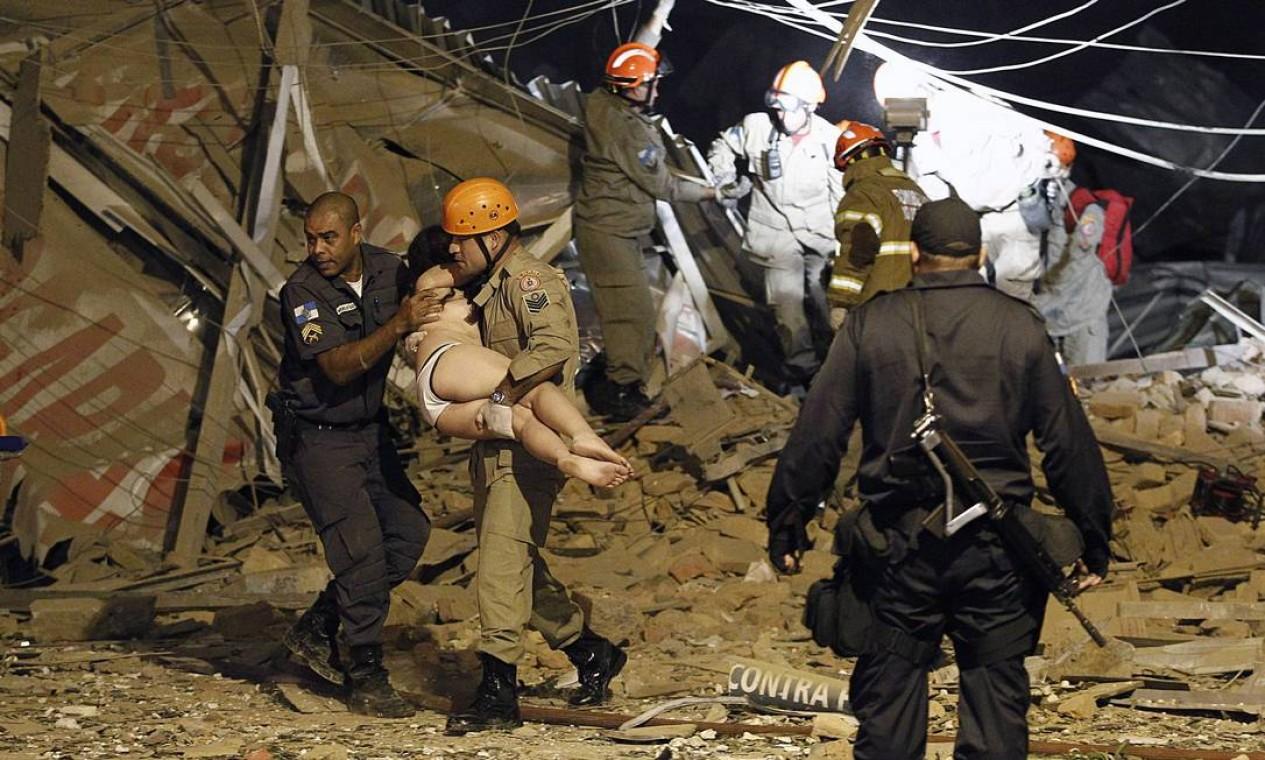 Até o momento, não foram encontradas pessoas mortas Foto: Thiago Lontra / Agência O Globo