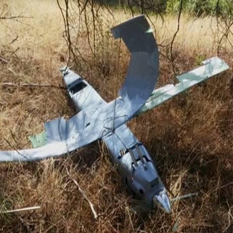 Drone foi abatido na sexta-feira após entrar no espaço aéreo turco Foto: REUTERS TV / REUTERS