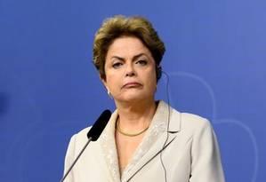 A presidente Dilma em entrevista coletiva na Suécia Foto: REUTERS