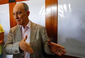O presidente do PT, Rui Falcão Foto: André Coelho / Agência O Globo 08/07/2014