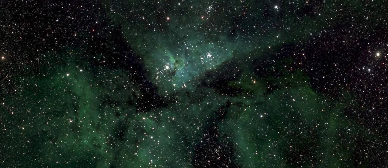 Detalhe da imagem da Via Láctea mostra a Nebulosa Eta Carinae Foto: Ruhr-Universität Bochum