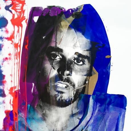 Serigrafia do artista carioca André de Castro sobre foto de Luaty Beirão Foto: Reprodução