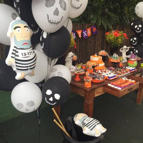 Pixulecos foram usados em decoração de festa de aniversário infantil no Rio de Janeiro Foto: Acervo pessoal