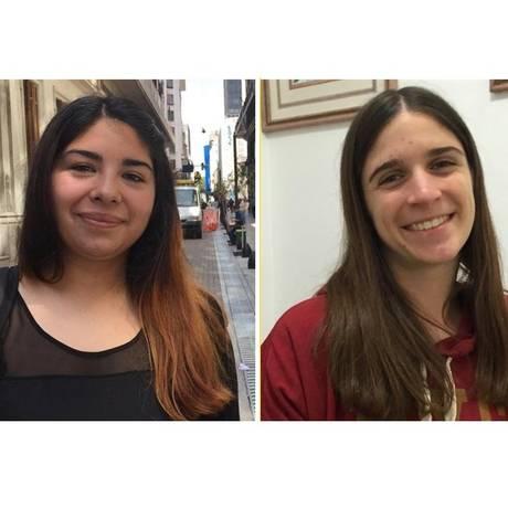 Karen Gomez, Josefina Solessio e Juan Montes de Oca são retratos de um eleitorado distinto Foto: Janaína Figueiredo / O Globo