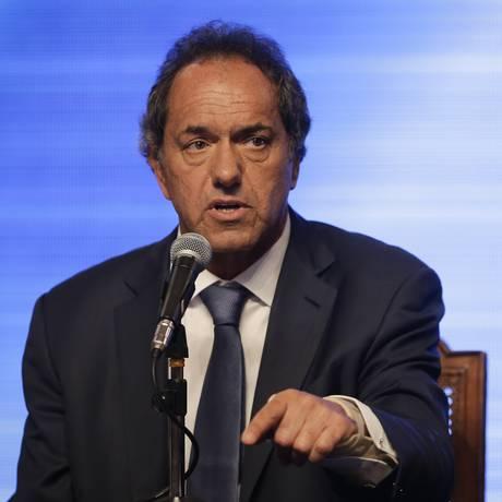 Scioli e Cristina não abordaram possível escândalo Foto: Victor R. Caivano / AP