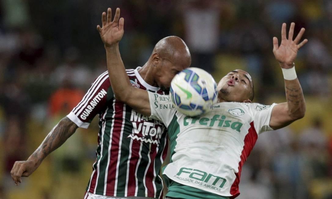 O jogo de ida da semifinal da Copa do Brasil, no Maracanã, deu vantagem ao Fluminense: 2 a 1 sobre o Palmeiras Marcelo Carnaval / Agência O Globo