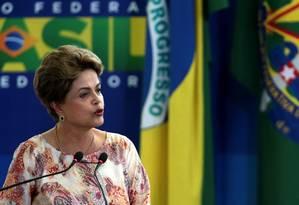 A presidente Dilma Roussef Foto: Jorge William / Agência O Globo