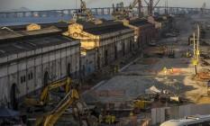 Maquinário na área do Porto do Rio Foto: Dado Galdieri / Bloomberg
