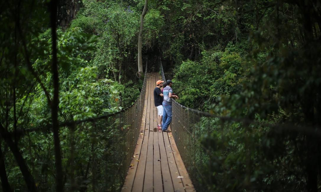 A 250 quilômetros da cidade de São Paulo e cercada por verde e muita água, a cidade de Brotas é considerada a capital do turismo de aventura no país. Foto: Marcos Alves / Agência O Globo