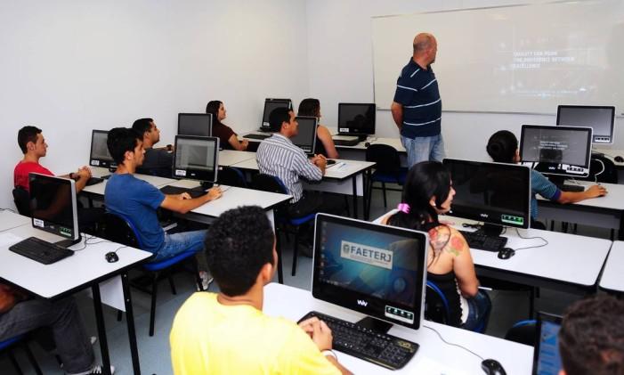 Sala de aula da unidade da Faetec em Duque de Caxias Foto: Divulgação (17/10/2014)