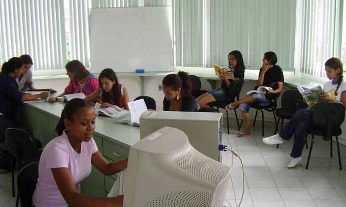 Sala de aula da Fundação Cecierj Foto: Divulgação (18/04/2013)