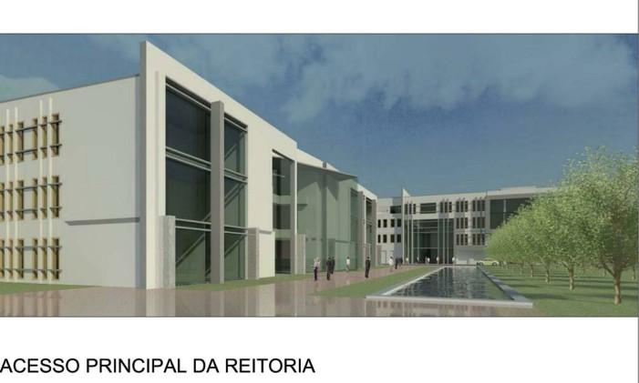 Croqui do projeto do novo campus da Uezo Foto: Divulgação (29/06/2012)