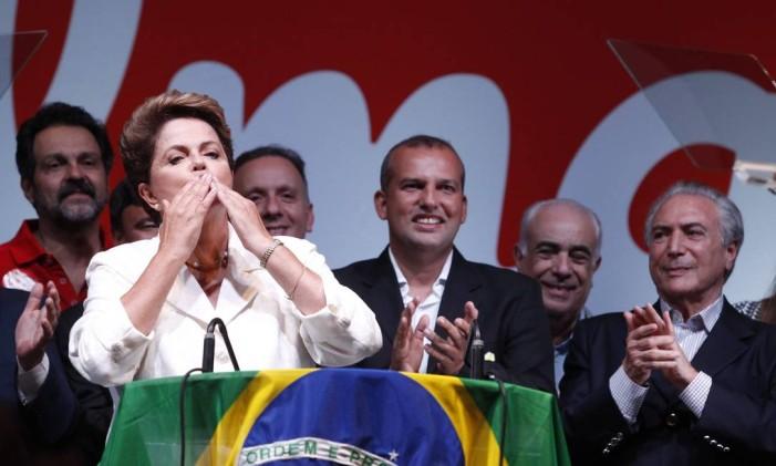 A presidente Dilma faz pronunciamento após a divulgação do resultados das eleições no 2º turno Foto: Arquivo 26/10/2014 / Jorge William / Agência O Globo