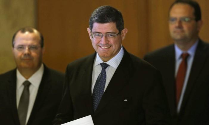 Joaquim Levy durante coletiva que anunciou a nova equipe econômica do governo Foto: Ueslei Marcelino / Reuters