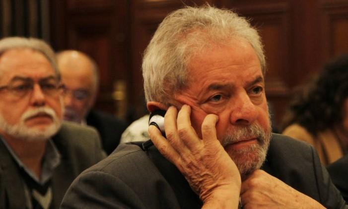 O ex-presidente Lula em conferência no Instituto Lula Foto: Arquivo 22/06/2015 / Michel Filho / Agência O Globo