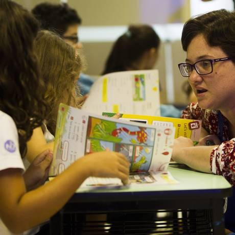 Aulas do programa têm a mesma metodologia do curso Foto: Guilherme Leporace/ Agência O Globo