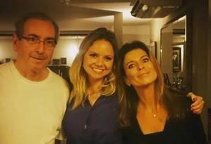 Cunha, a filha dele Danielle e Cláudia Cruz: os três estão sendo investigados após divulgação de contas secretas da família na Suíça Foto: Reprodução de internet