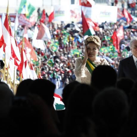 BRASIL - BRASÍLIA - BSB - 01/01/2015 - PA - Cerimônia de posse, no Palácio do Planalto, da Presidente Dilma Rousseff. Foto de Jorge William/Agência O Globo Foto: Jorge William / Jorge William/1-1-2015