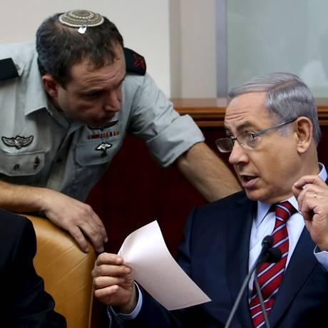 Benjamin Netanyahu, primeir-ministro israelense demonstrou interesse em instalar vigilância integral na Esplanada das Mesquitas Foto: Gali Tibbon / Reuters