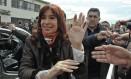Cristina Kirchner, ex-presidente da Argentina Foto: Walter Diaz / AFP/25-10-2015
