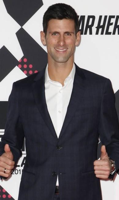 Mais um clique do simpático tenista ALESSANDRO GAROFALO / REUTERS