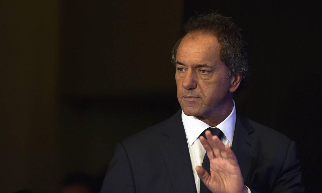 Scioli não admitiu abertamente, mas viu vantagem desaparecer Foto: AFP/JUAN MABROMATA