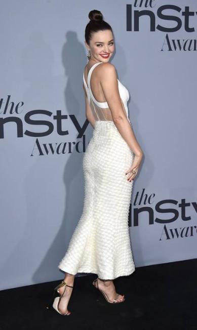 A top australiana Miranda Kerr foi outra estrela da premiação Jordan Strauss / Jordan Strauss/Invision/AP