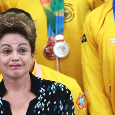 Presidente Dilma Rousseff durante a 6ª edição dos Jogos Mundiais Militares na Coreia do Sul Foto: Jorge William / Agência O Globo
