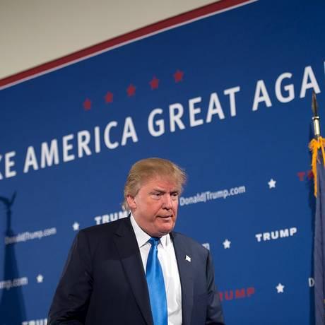 Trump discursa em New Hampshire: a cada dia, um novo alvo Foto: Gretchen Ertl / REUTERS