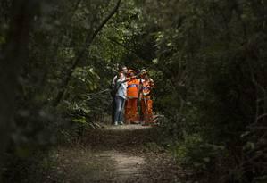 Geógrafa Silma Santa Maria coordena o projeto e orienta funcionários Foto: ANTONIO SCORZA / Agência O Globo