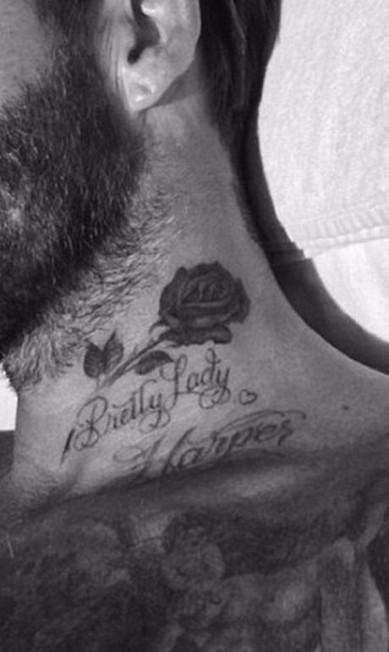 Aqui, Beckham mostra uma outra tatoo feita para homenagear Harper Reprodução/ Instagram