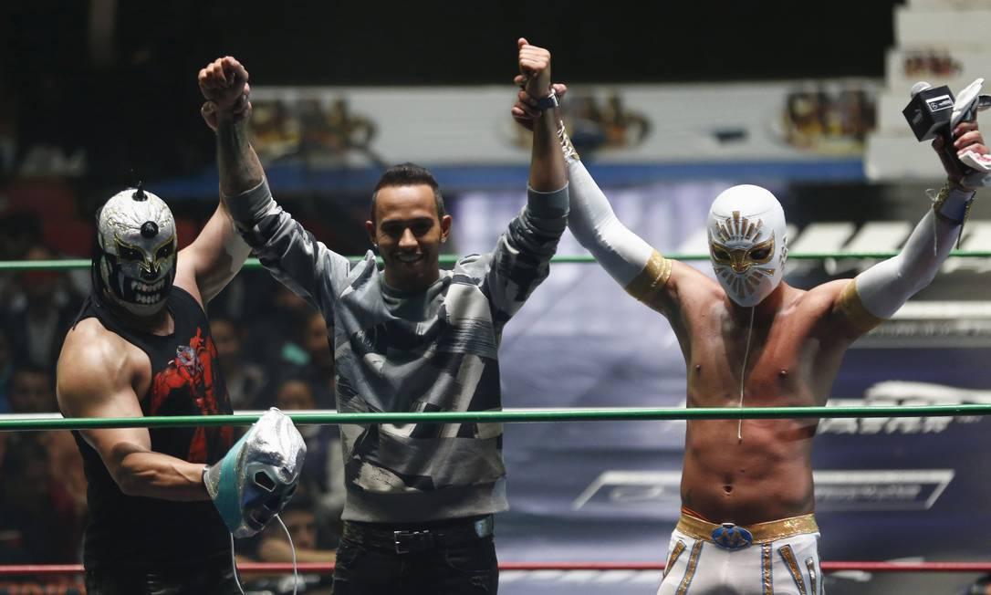 Foi um verdadeiro sucesso a participação do tricampeão mundial na luta livre HENRY ROMERO / REUTERS
