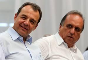 O ex-governador Rio Sérgio Cabral e o governador Pezão Foto: 14/03/2014 / Divulgação / Carlos Magno