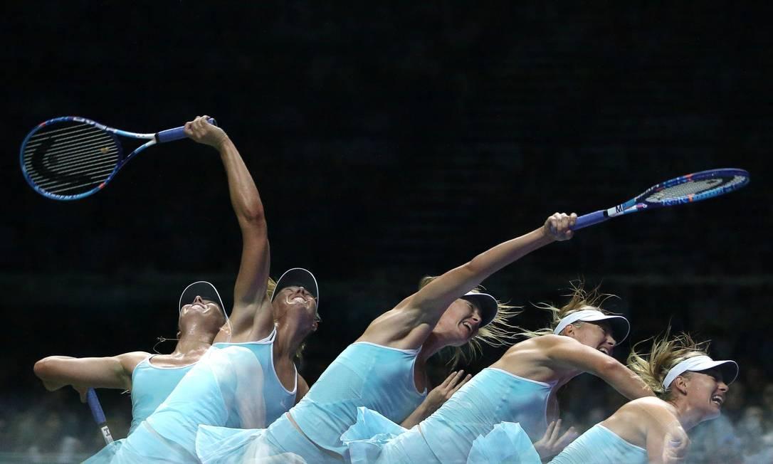 No torneio que reúne as oito melhores do mundo, a russa Maria Sharapova segue 100% em três jogos Jeremy Lee / REUTERS