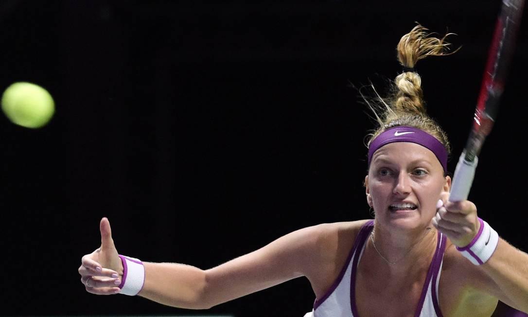 Já a tcheca Petra Kvitova está em terceiro nesse grupo Joseph Nair / AP