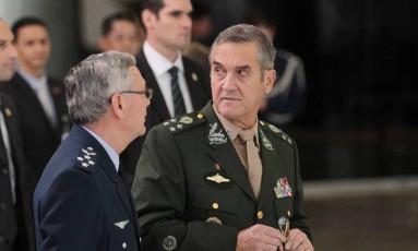 Comandante do exército, general Eduardo Dias da Costa Villas Bôas Foto: Michel Filho / Agência O Globo