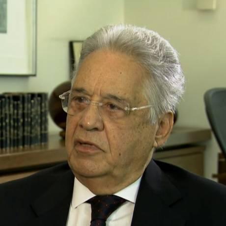 O Ex- presidente Fernando Henrique no programa Conexão Roberto D'avila Foto: Reprodução de TV