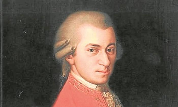 O compositor austríaco Mozart Foto: Reprodução