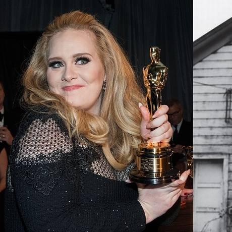 A cantora Adele e o músico Tom Waits Foto: Montagem com foto de Valerie Macon/AFP e de facebook