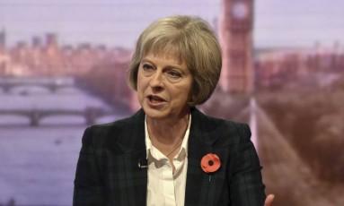 A ministra Theresa May detalhou proposta de vigilância Foto: Jeff Overs/BBC / REUTERS