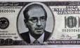 Nota falsa da moeda america jogada por manifestante no presidente da Câmara, Eduardo Cunha