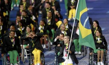 Delegação brasileira desfila na abertura dos Jogos Paralímpicos de Londres-2012 Foto: Suzanne Plunkett/Reuters/29-08-2012