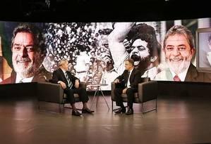 """Ex-presidente Lula é entrevistado no """"SBT Brasil"""" Foto: Divulgação"""