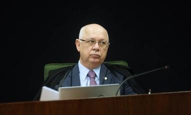O ministro Teori Zavascki durante sessão no STF Foto: Divulgação / Carlos Humberto/ STF / 03/11/2015