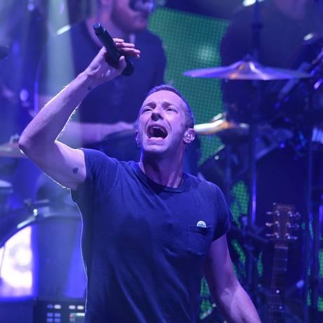 Chris Martin, vocalista do Coldplay Foto: TORU YAMANAKA / AFP